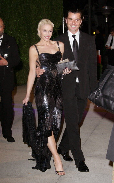 Gwen Stefani and Gavin Rossdale wore all black in LA in February 2005.