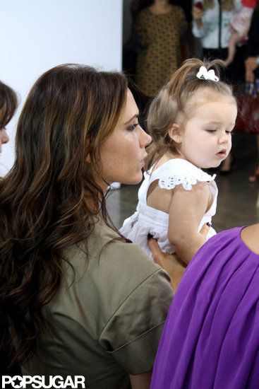 Harper Beckham watched Victoria's Fashion Week show from the front row.