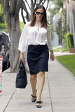 Jennifer Garner took to the sidewalk in Santa Monica.