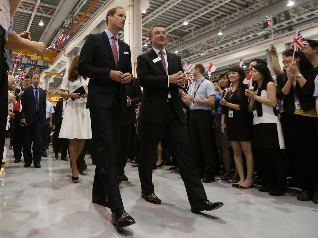 Prince William took a tour of the Rolls-Royce Seletar campus.