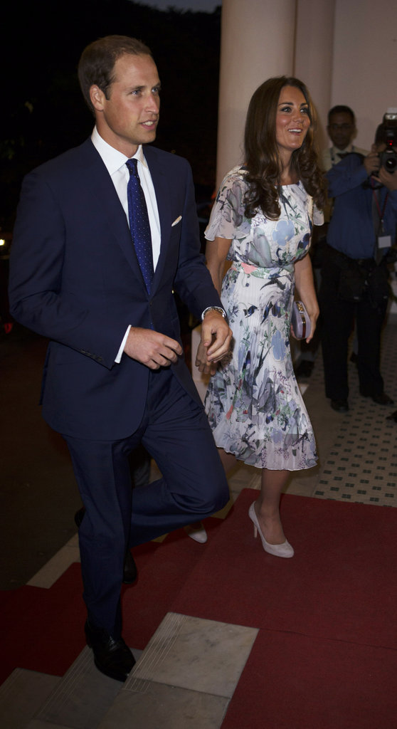 Kate Middleton and Prince William walked into a dinner party reception in Singapore.
