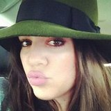 Khloe Kardashian put on her best pout. Source: Instagram user khloekardashian