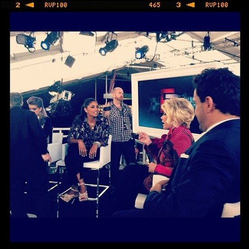Rachel Roy chatted with Joan Rivers during an episode of Fashion Police during NYFW. Source: Instagram user rachel_roy