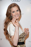 Amy Adams smiled while promoting The Master.