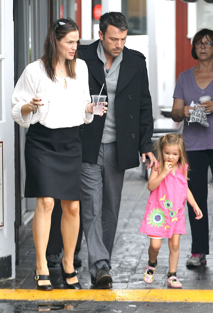 Ben Affleck, Jennifer Garner, and Seraphina Affleck grabbed breakfast in Brentwood.