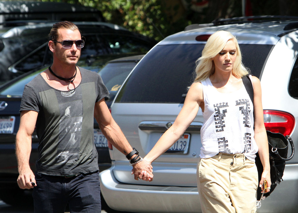 Gwen Stefani and Gavin Rossdale walked into a Burbank, CA, studio hand in hand.