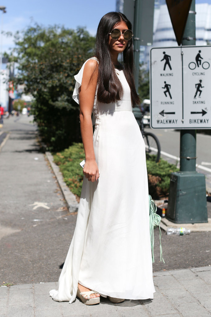A bit of a drama-inducing, feminine white maxi.