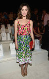 Rose Byrne selected a lovely printed dress from Marc Jacobs for the designer's show in NYC.