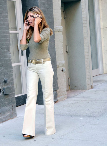Nina Garcia kept it simple with smart separates.