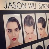 Vintage beauty reigned supreme on the Jason Wu runway, and here's the style from a variety of angles.