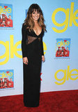 Lea Michele donned a long black dress.
