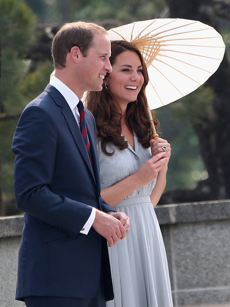 Will and Kate smiled on their final day in Singapore.