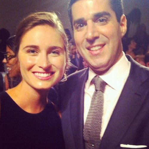 Lauren Bush posed with Neiman Marcus president Jim Gold. Source: Instagram user neimanmarcus