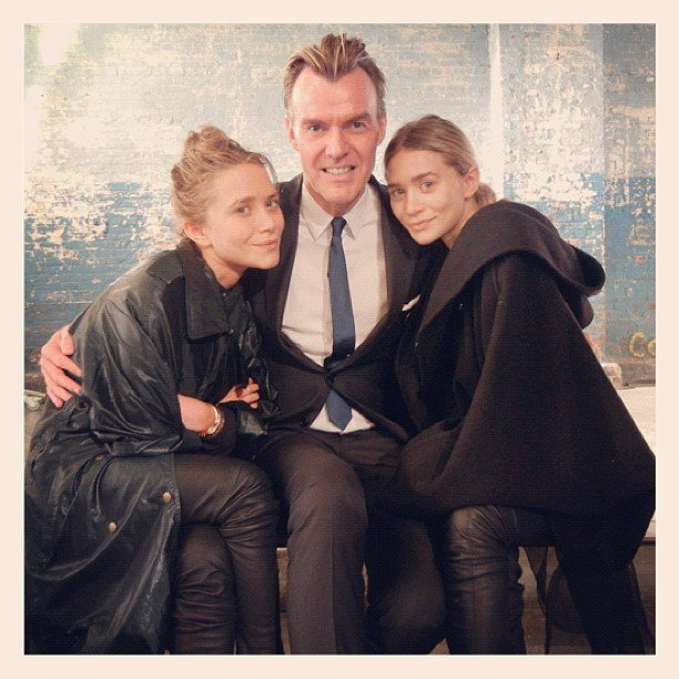 Mary-Kate Olsen and Ashley Olsen snapped some pics during Fashion Week.  Source: Instagram user neimanmarcus