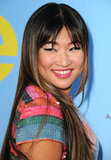 Jenna Ushkowitz lit up the carpet in a brightly colored dress.
