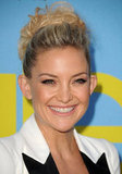 Kate Hudson wore her hair up.