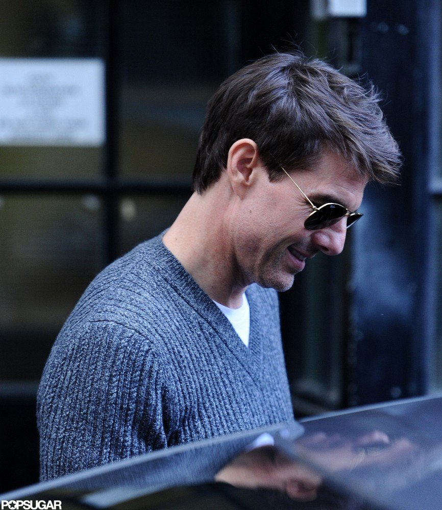 Tom Cruise left a business meeting in the UK yesterday.