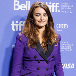 Penelope Cruz in Purple at the Toronto Film Festival