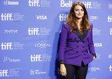 Penelope Cruz wore a purple blazer to TIFF.