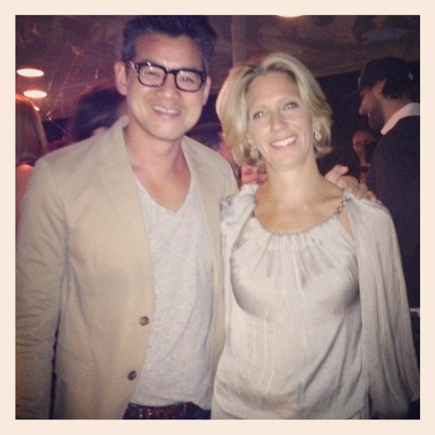 Peter Som partied with Lucky editor Brandon Holley. Source: Instagram user peter_som
