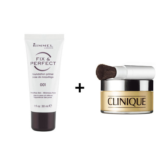 Rimmel London Fix and Perfect Foundation Primer, $13.95 + Clinique Redness Solutions Instant Relief Mineral Powder, $70 Rimmel London stockists: 1800 812 663  Clinique stockists: 1800 556 948