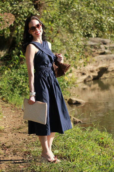 Asos Midi Dress and Vintage Clutch