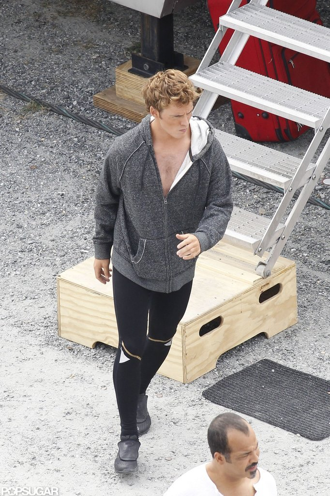 Sam Claflin was on the Catching Fire set in Atlanta.