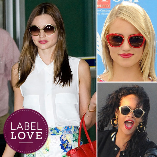 Miu Miu's funky-fabulous sunglasses have been spotted on many famous faces as of late. Find out which stars are obsessed with Miu Miu's newest sunglasses, and then shop your favorite styles for yourself.