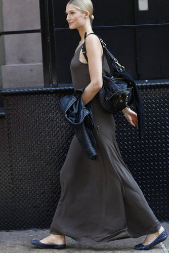 A flawless take on an easy maxi silhouette — easy and breezy, just as it should be. Source: Greg Kessler
