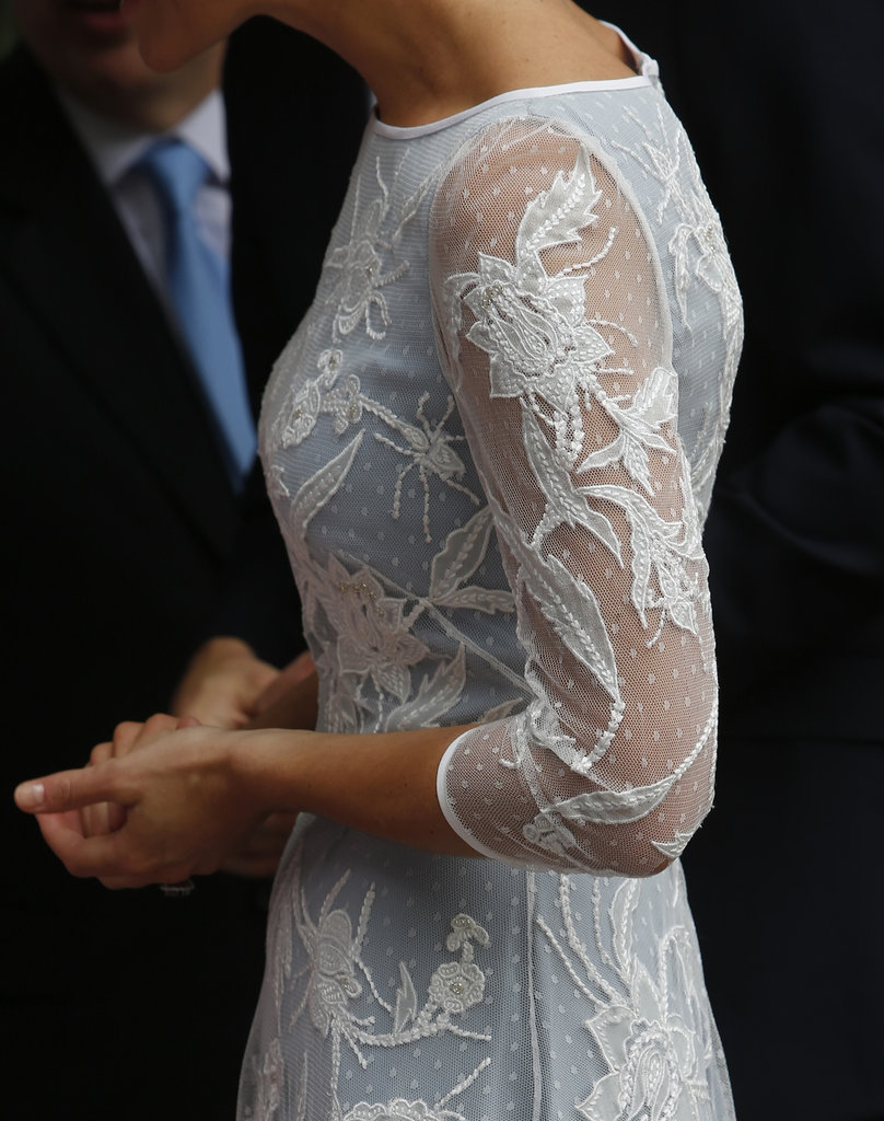 Beautiful detailing on her Temperley dress.