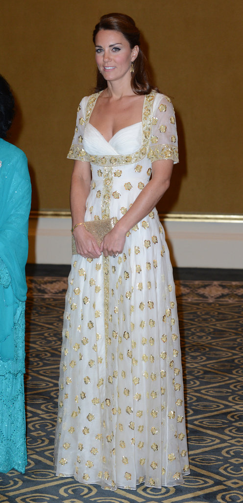 On Thursday Sept. 13, Kate wore a fairytale Alexander McQueen dress to a dinner at Istana Palace in Kuala Lumpur.