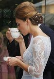 Kate looked the picture of elegance sipping tea.