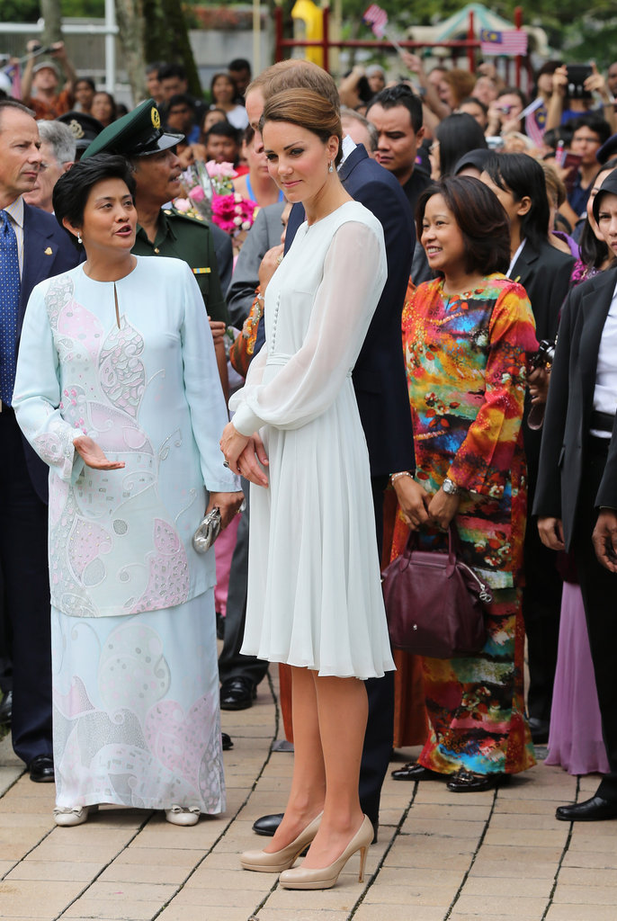 On Friday Sept. 14, Kate Middleton wore a Beulah London dress on her visit to Assyakirin Mosque in Kuala Lumpur, Malaysia.