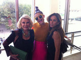 Joan Rivers and Melissa Rivers ran into Kelly Osbourne at the Chris Benz presentation during NYFW. Source: Twitter user Joan_Rivers