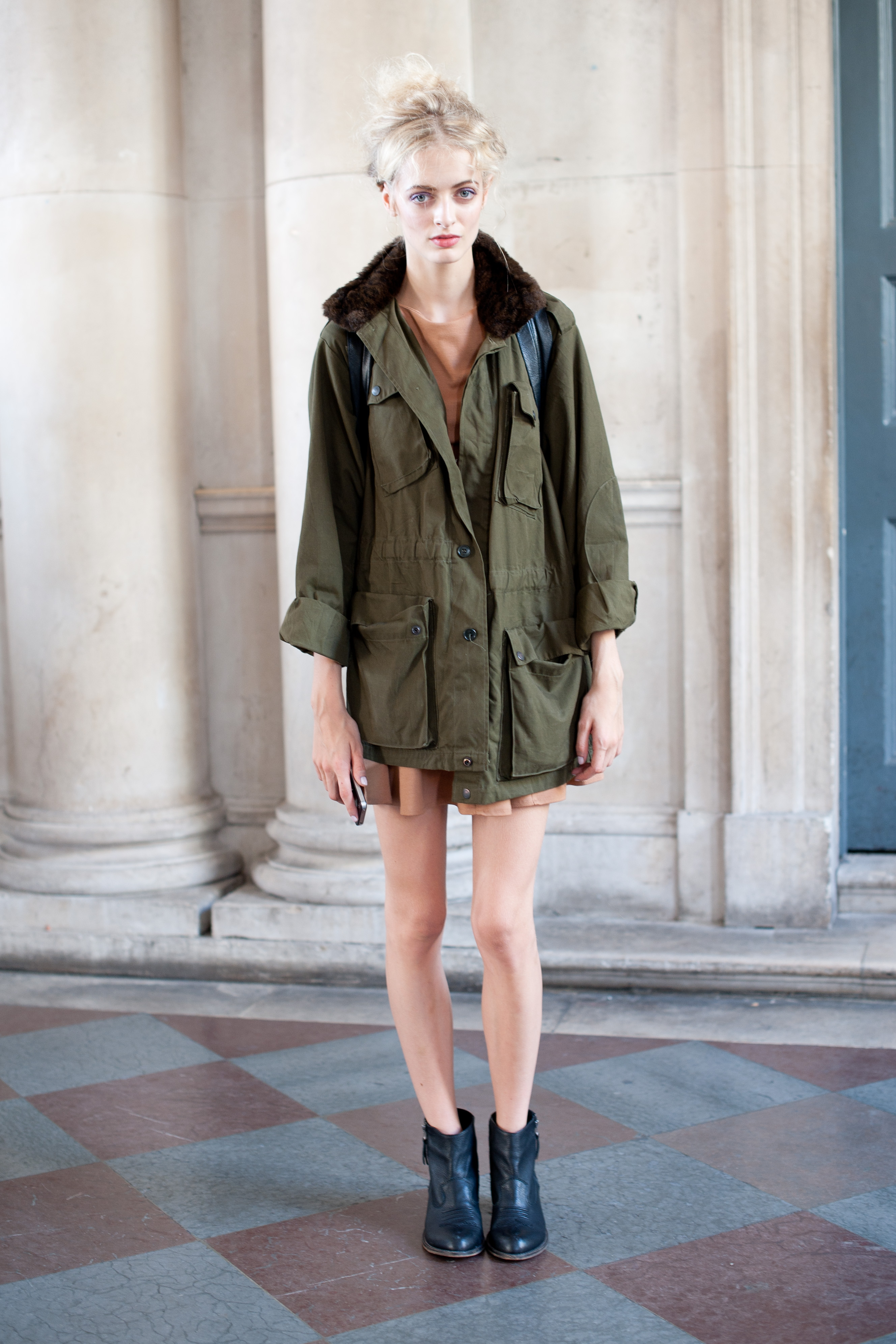 When in doubt, an olive green parka will solve your chilly-day style problems. Promise.