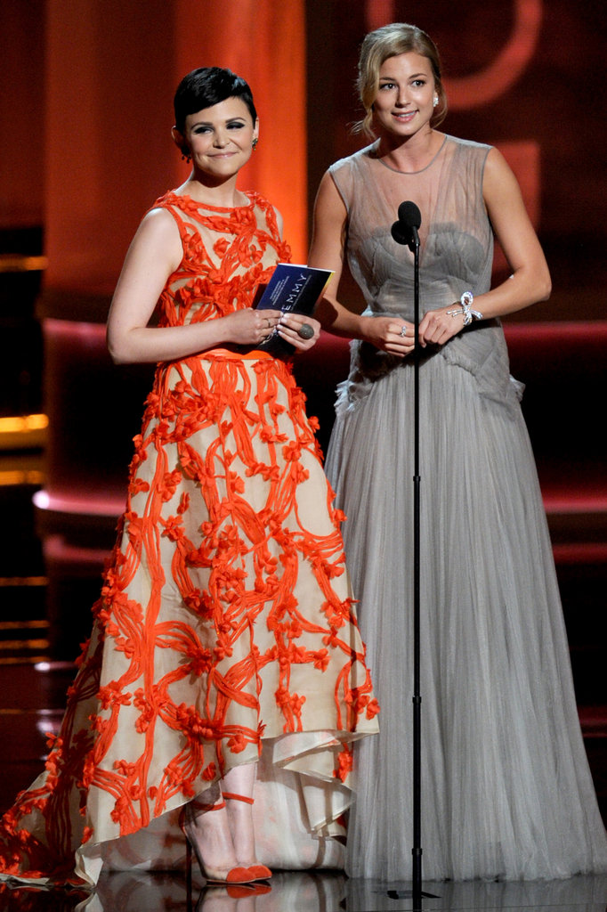 Actresses Ginnifer Goodwin and Emily VanCamp presented together at the Emmys.