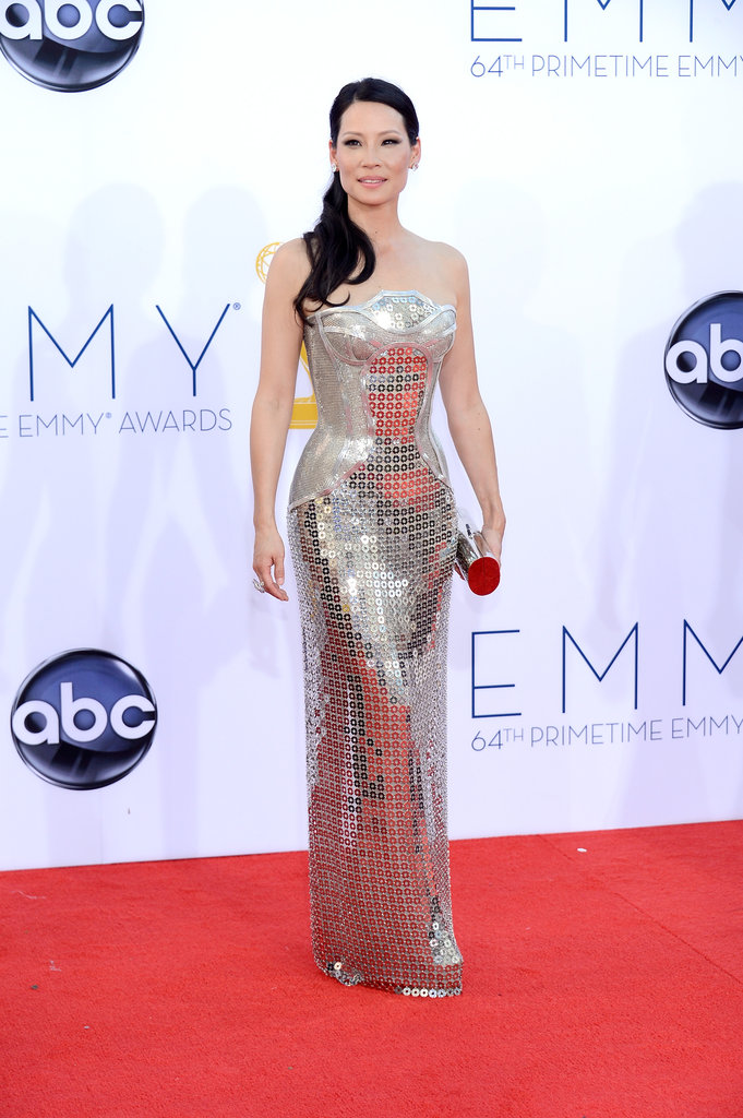 Elementary actress Lucy Liu shined on the red carpet.