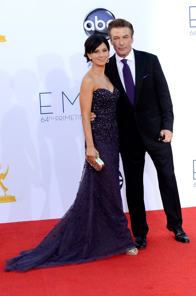 30 Rock's Alec Baldwin had his arm around wife Hilaria Thomas.