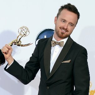 Aaron Paul Emmy Interview in Press Room