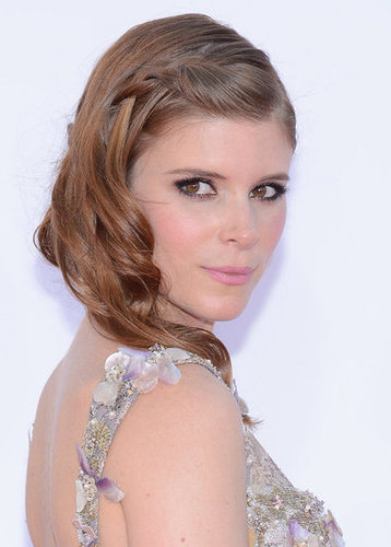 Kate Mara wore her hair with a loose braid.