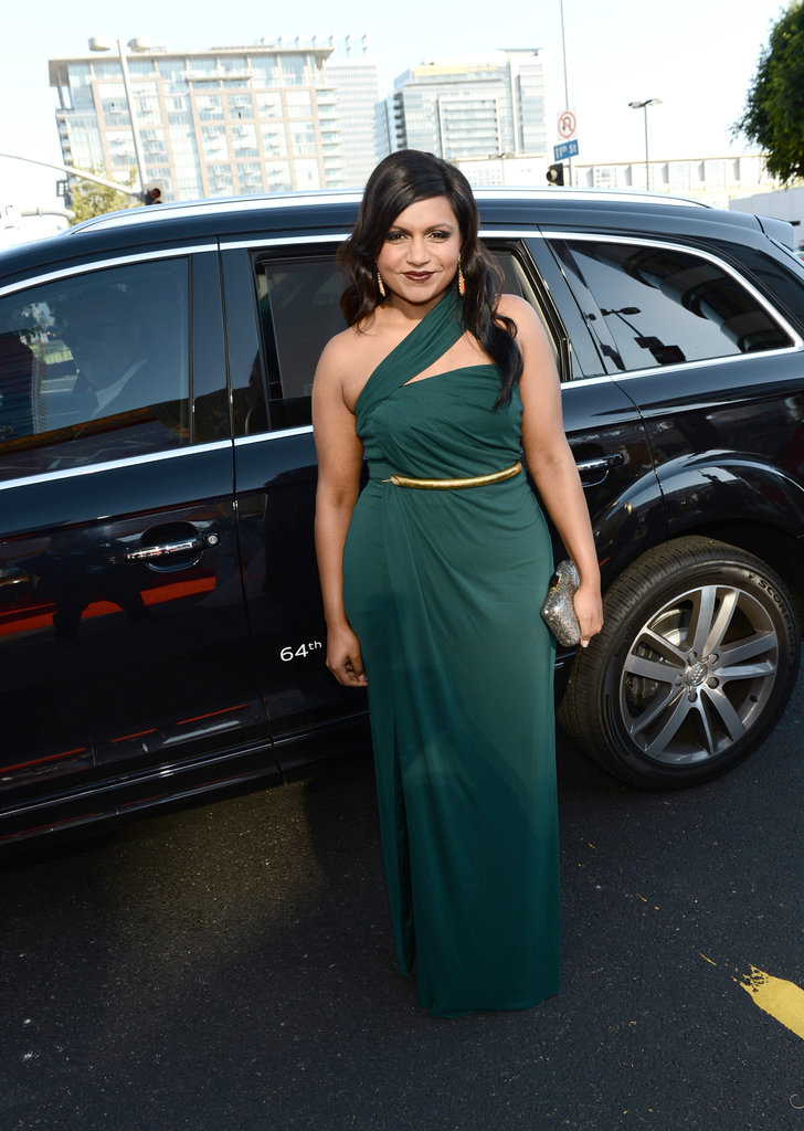 Mindy Kaling arrived at the Emmy Awards.