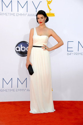 Jessica Paré wore a custom Jason Wu gown to the Emmys.