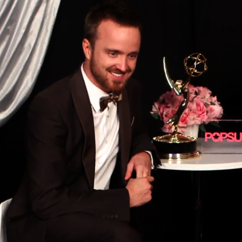 Aaron Paul 2012 Emmys Winner Backstage Video Interview on Fiancee and Breaking Bad