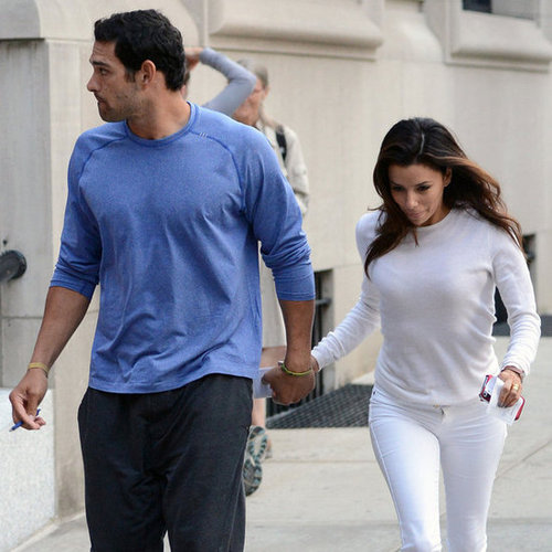 Eva Longoria and Mark Sanchez Hold Hands in NYC | Pictures