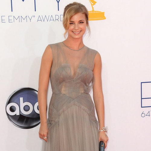 Emily Van Camp stunned in J. Mendel.