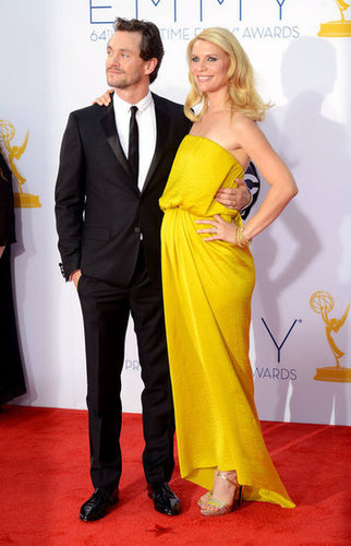 Claire Danes walked the red carpet with husband Hugh Dancy at the 2012 Emmys.