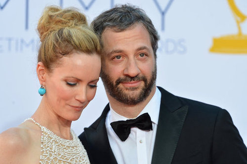 Leslie Mann and Judd Apatow got close for a photo.
