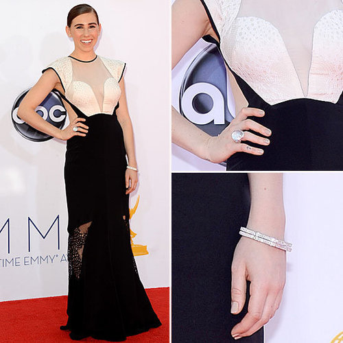 Pictures of HBO's Girls star Zosia Mamet on the red carpet at the 2012 Emmy Awards