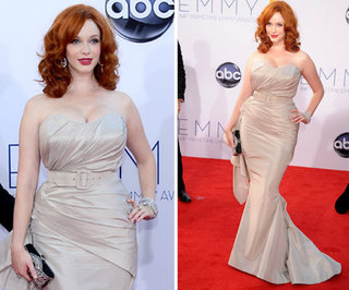 Christina Hendricks at the Emmys 2012