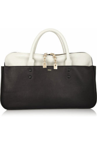 Chlo|Lucy leather tote|NET-A-PORTER.COM